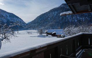 Ferienwohnung Balkon Winter
